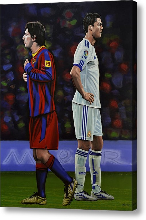 Paul Meijering - Lionel Messi and Cristian... Print