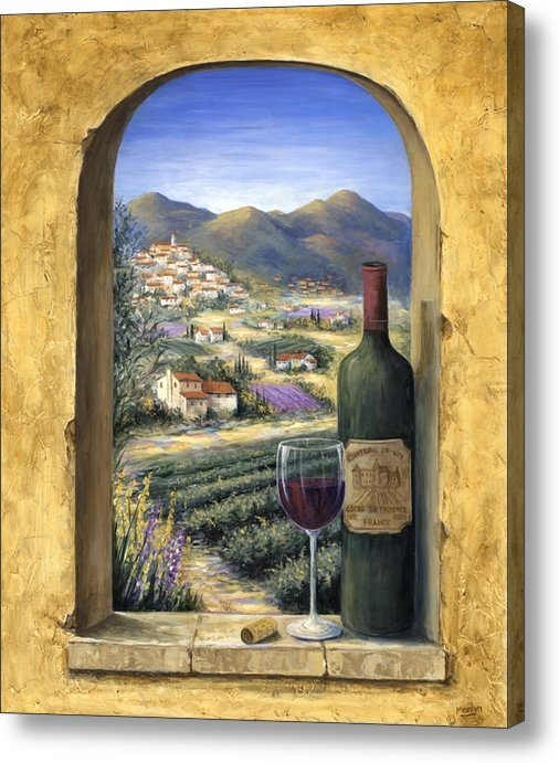 Marilyn Dunlap - Wine and Lavender Print