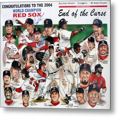 Dave Olsen - End Of The Curse Red Sox ... Print