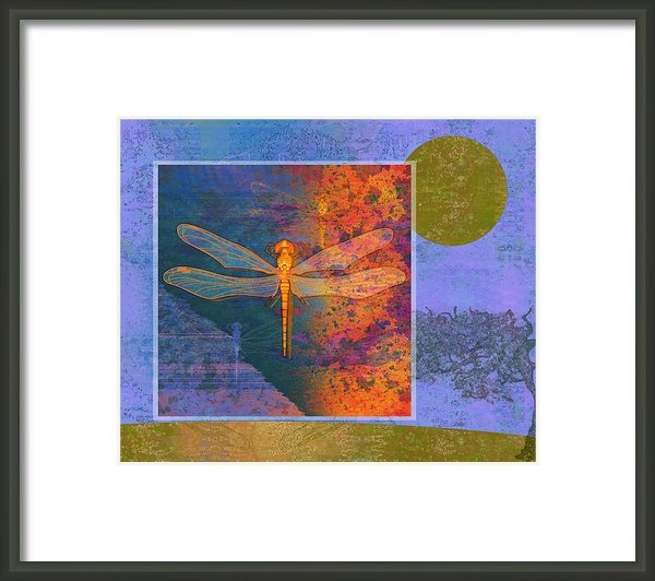 Mary Ogle - Flaming Dragonfly Print