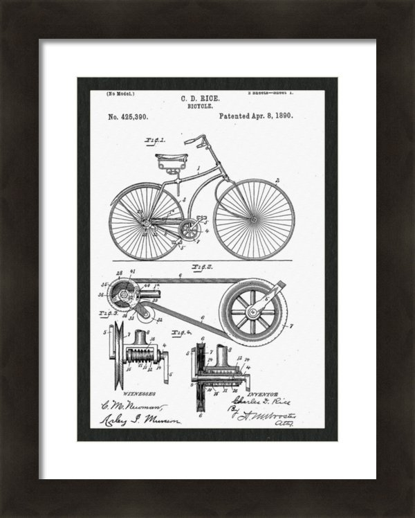 Bill Cannon - Bicycle Patent 1890 Print