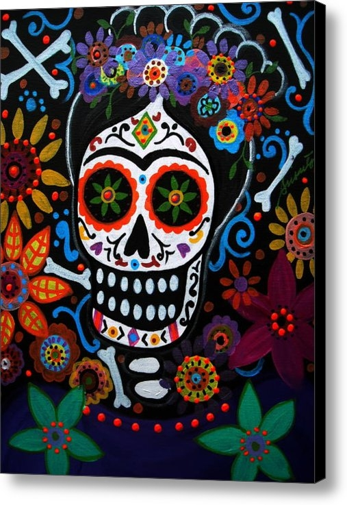 Pristine Cartera Turkus - Day Of The Dead Frida Kah... Print