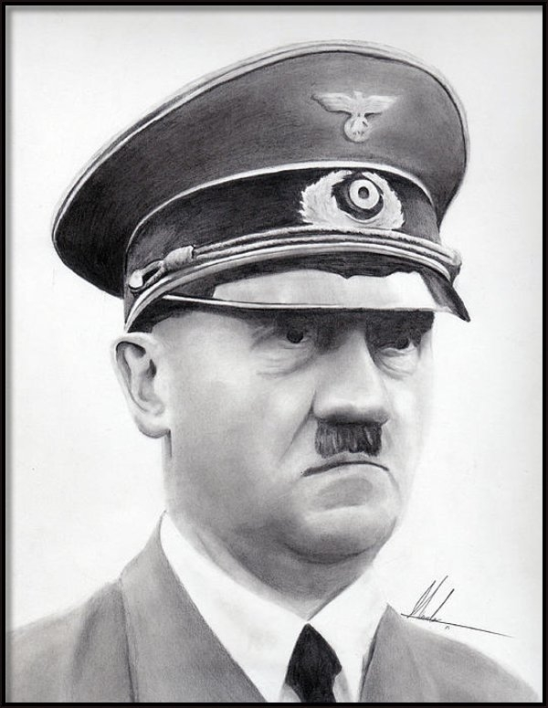 Marcos Islava - Hitler Portrait  Print
