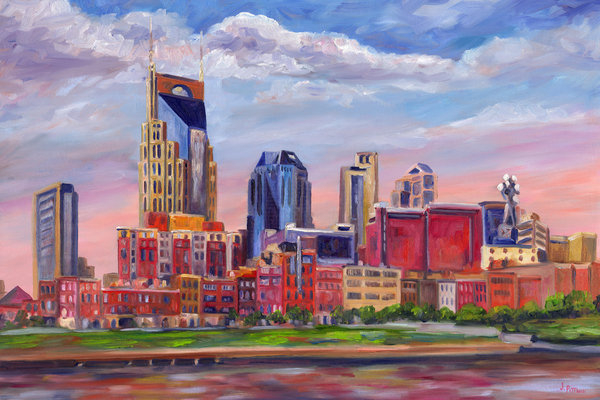 Jeff Pittman - Nashville Skyline Paintin... Print