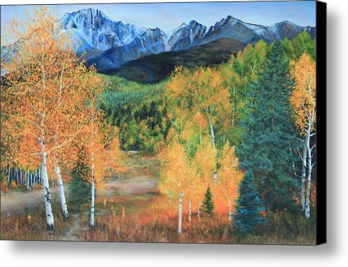 Jeanette French - Colorado Aspens Print