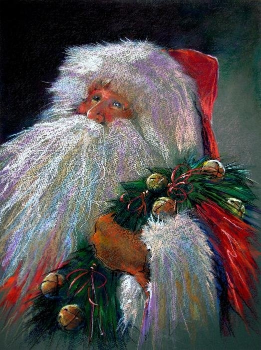 Shelley Schoenherr - SANTA CLAUS with Sleigh B... Print