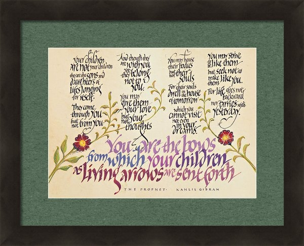Dave Wood - Kahlil Gibran - Children Print