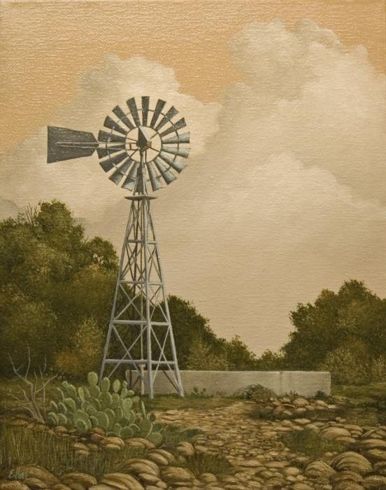 Norman Engel - South Texas Windmill Print