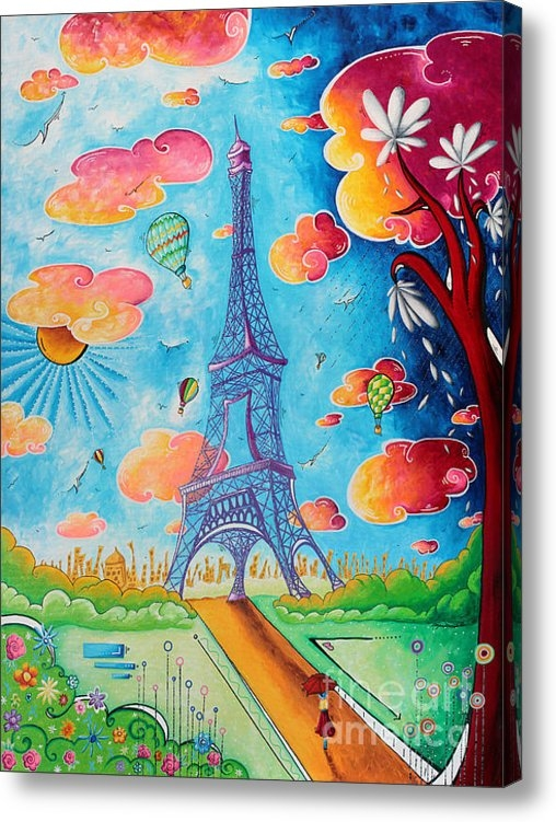 Megan Duncanson - Original Paris Eiffel Tow... Print