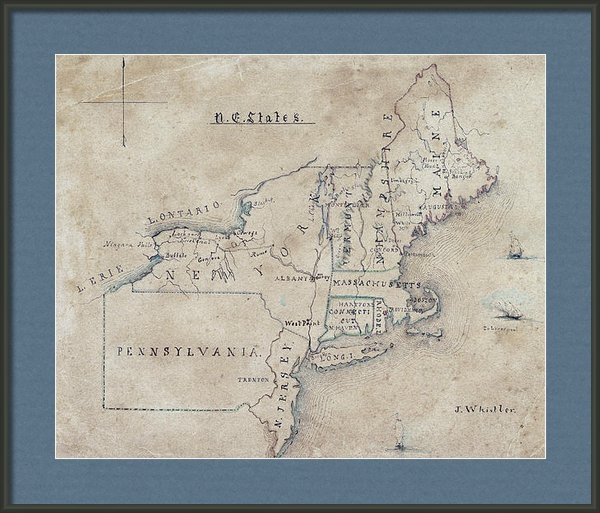 Daniel Hagerman - JAMES WHISTLER MAP of NOR... Print