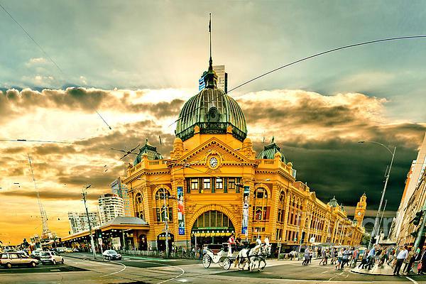 Az Jackson - Flinders St Station Print