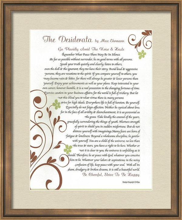 Claudette Armstrong - DESIDERATA Daisy Vines Print