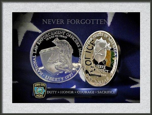 Gary Yost - Iowa City Police Memorial Print
