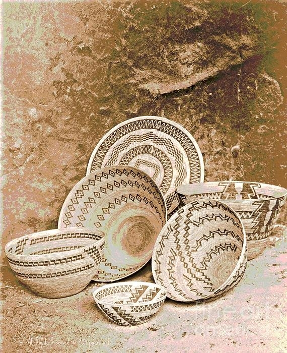 Padre Art - Yokuts Baskets in the Pai... Print