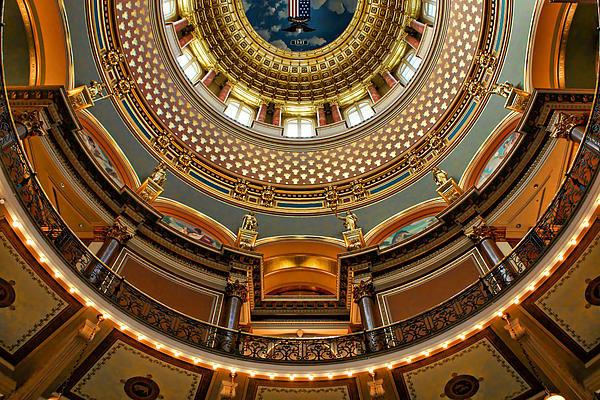 Nikolyn McDonald - Dome Designs - Iowa Capit... Print