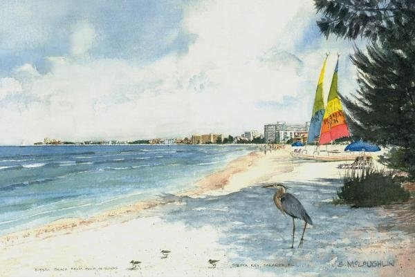 Shawn McLoughlin - Crescent Beach on Siesta ... Print