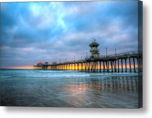Andrew Slater - Sunset beneath the Pier Print