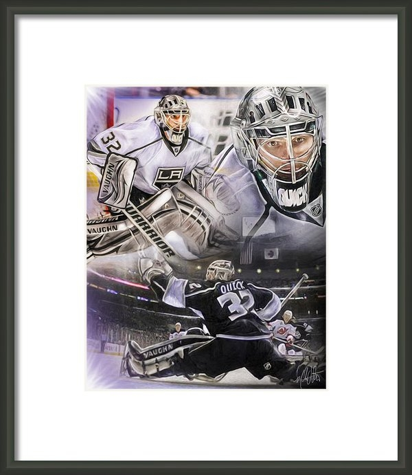 Mike Oulton - Jonathan Quick Collage Print