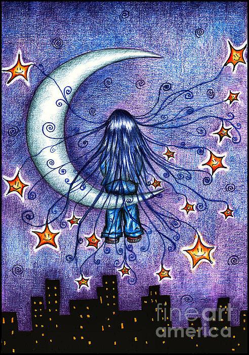 Alex Greenshpun - Moonchild Print