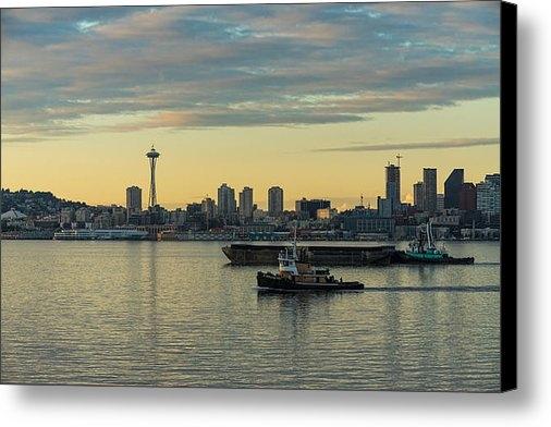 Mike Reid - Seattles Working Harbor Print