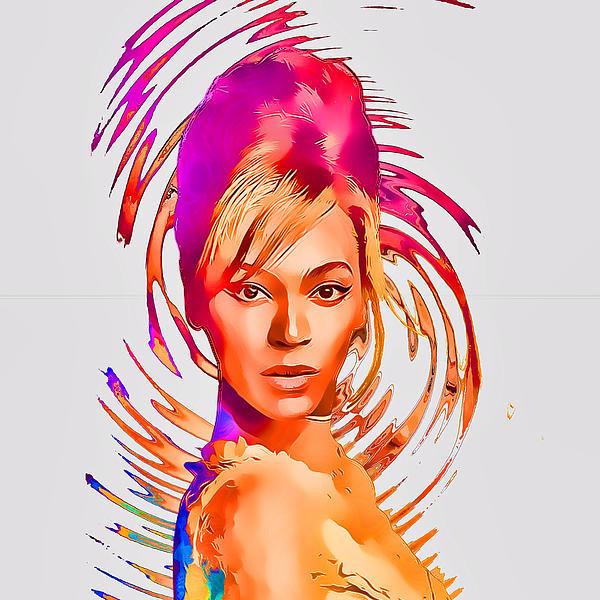 Anibal Diaz - Beyonce Splash of Color b... Print