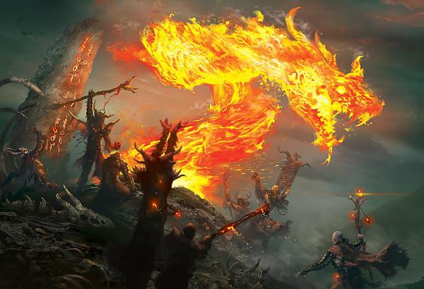 Ryan Barger - Stoke The Flames Print