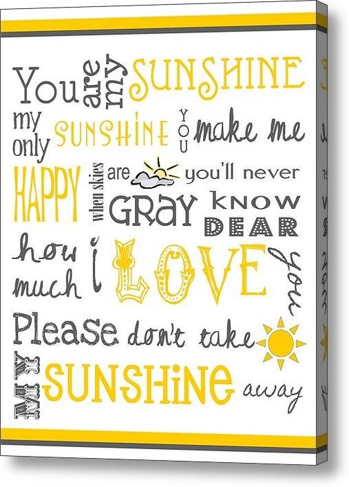 Jaime Friedman - You Are My Sunshine Poste... Print