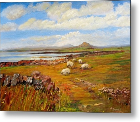 Maureen Dowd - Sheep near Carna Cashel r... Print
