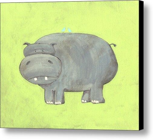 Katie Carlsruh - Herbert Hippo Nursery Art Print
