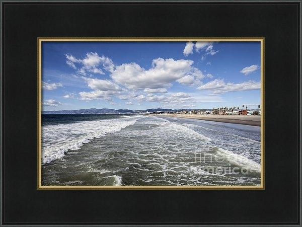 Trekkerimages Photography - Venice Beach Winter Surf Print