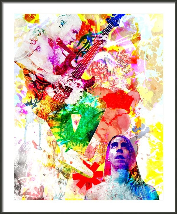 Ryan RockChromatic - Red Hot Chili Peppers  Print