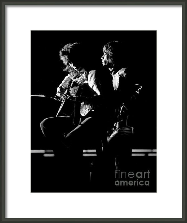 Chris Walter - Rolling Stones Mick and K... Print