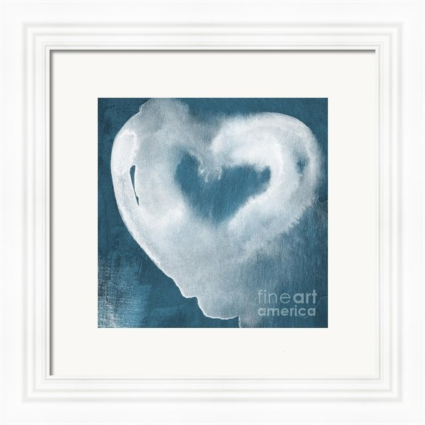 Linda Woods - Navy Blue and White Love Print