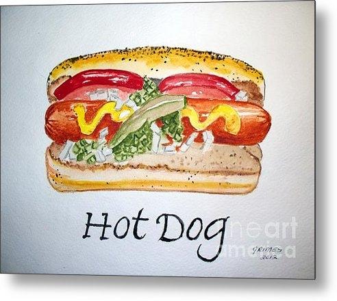 Carol Grimes - Hot Dog Print