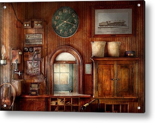 Mike Savad - Train - Office - The tick... Print