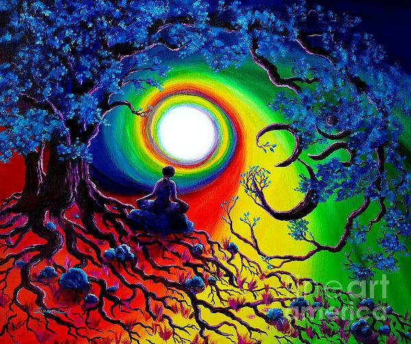 Laura Iverson - Om Tree of Life Meditatio... Print