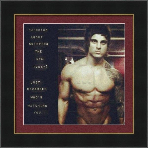 Sean Hagan - #zyzz #abs #gym #aestheti... Print