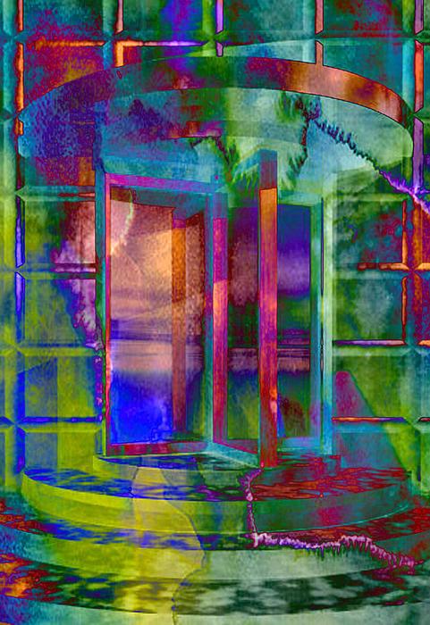 Elaine Plesser - Radioactive Revolving Doo... Print