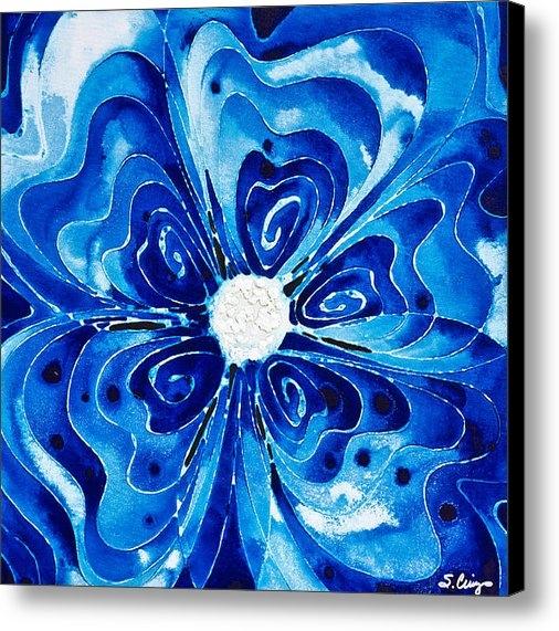 Sharon Cummings - New Blue Glory Flower Art... Print