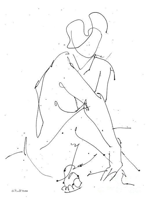 Gordon Punt - Nude-Female-Drawing-19 Print