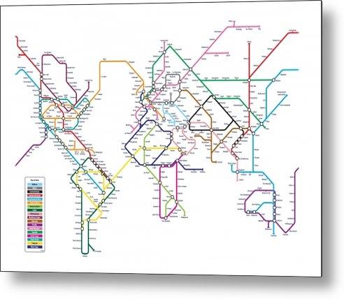 Michael Tompsett - World Metro Map Print