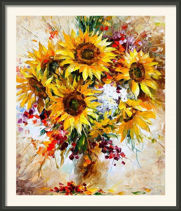 Leonid Afremov - Sunflowers of Happiness N... Print