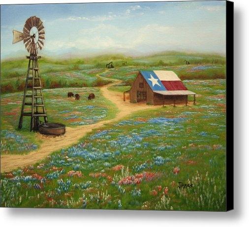 Jimmie Bartlett - Texas Countryside Print