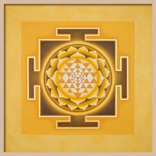 Piitaa - Sacred Art - Golden Sri Yantra Print