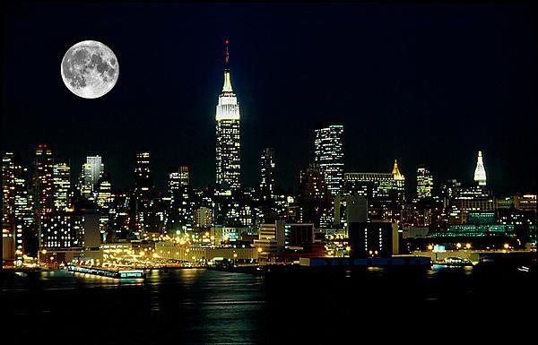 Anthony Sacco - Full Moon Rising - New Yo... Print
