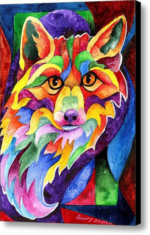 Sherry Shipley - Rainbow Fox Print
