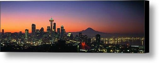 King Wu - Seattle Skyline at dawn Print