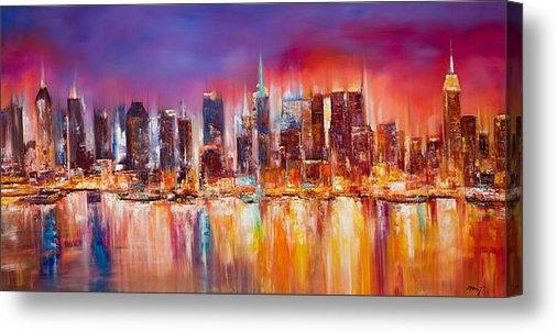 Manit - Vibrant New York City Sky... Print