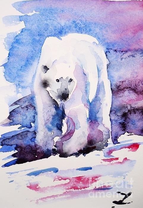 Zaira Dzhaubaeva - Polar Bear  Print