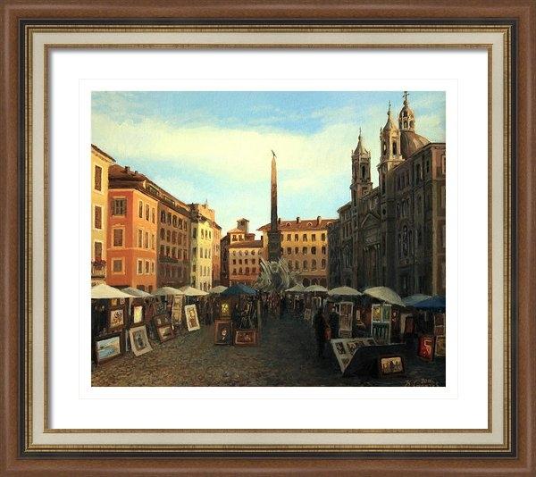 Kiril Stanchev - Piazza Navona in Rome Print